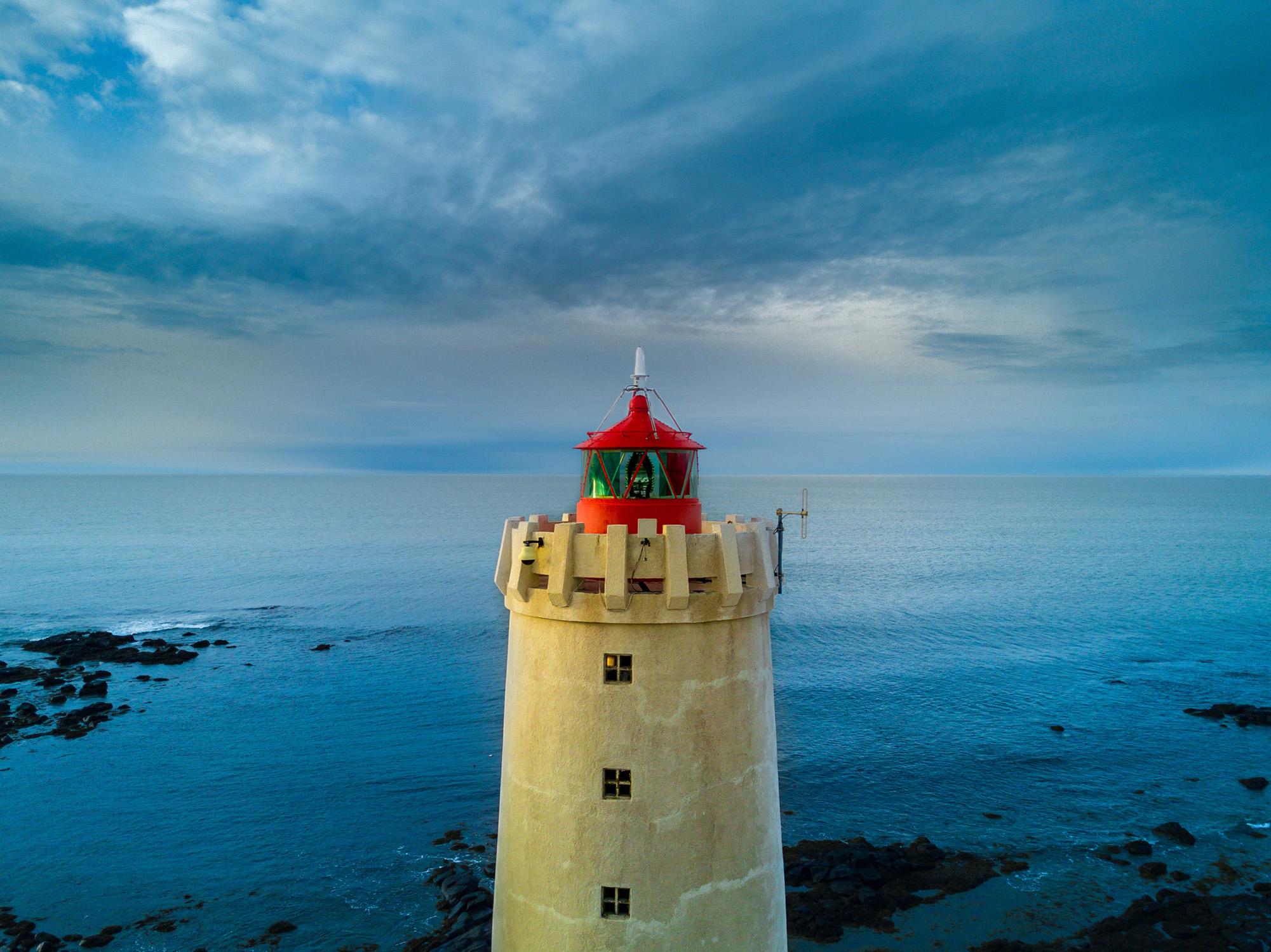 Grótta Island Lighthouse, Seltjarnarnes, Iceland